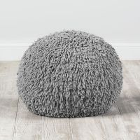 Shaggy Pouf (Grey) | The Land of Nod