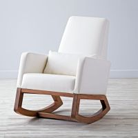 Baby Rocking Chair: White Leather | The Land of Nod