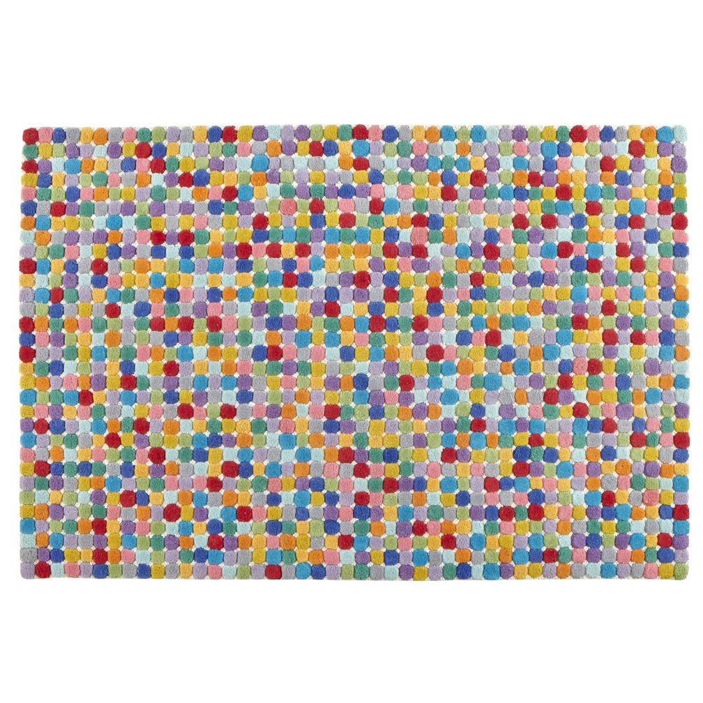 Multi Colored Polka Dot Wool Rug The Land Of Nod