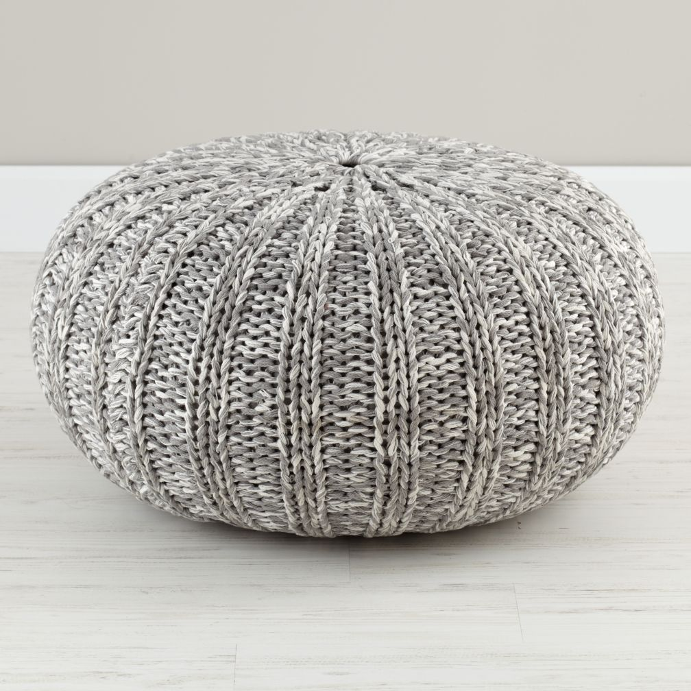 Bean Bag Sitzsack Variegated Grey Pouf | The Land Of Nod