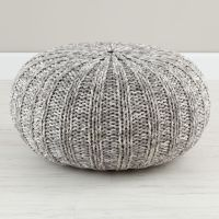 Variegated Grey Pouf | The Land of Nod