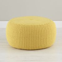 Yellow Braided Pouf | The Land of Nod