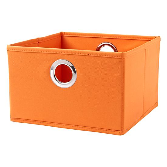 Orange I Think I Canvas Small Storage Drawer The Land Of Nod