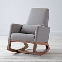 Joya Rocker: Grey Rocking Chair | The Land of Nod