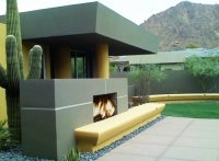 Stucco Fireplaces Outdoors