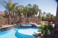 Tropical Arizona Pool - Landscaping Network
