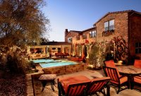 Ideas for a slope: Tuscan style backyard landscaping ...