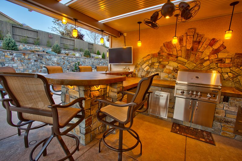 Concrete Patio Ideas Outdoor Kitchen - Folsom, Ca - Photo Gallery - Landscaping