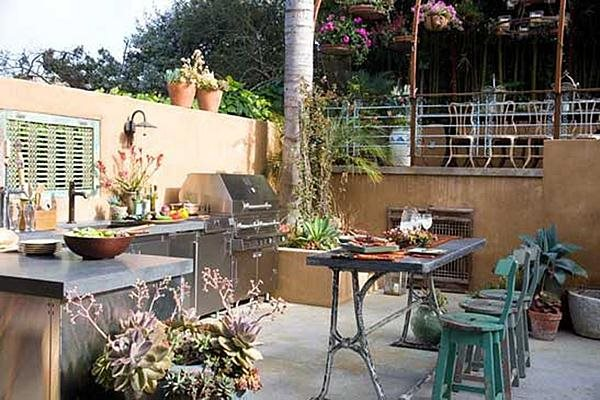 Stucco Outdoor Kitchen Landscaping Network