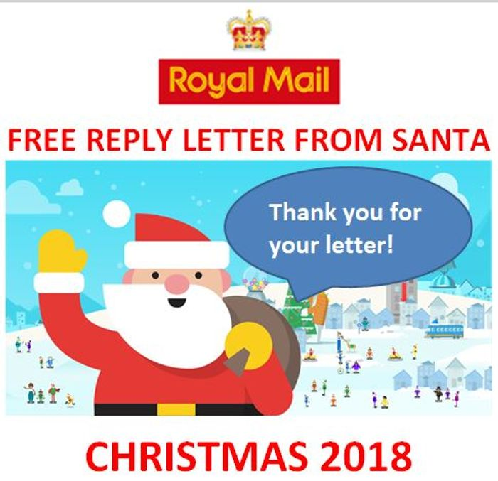 Christmas 2018 Letters to Santa Royal Mail FREE REPLY LETTER FROM