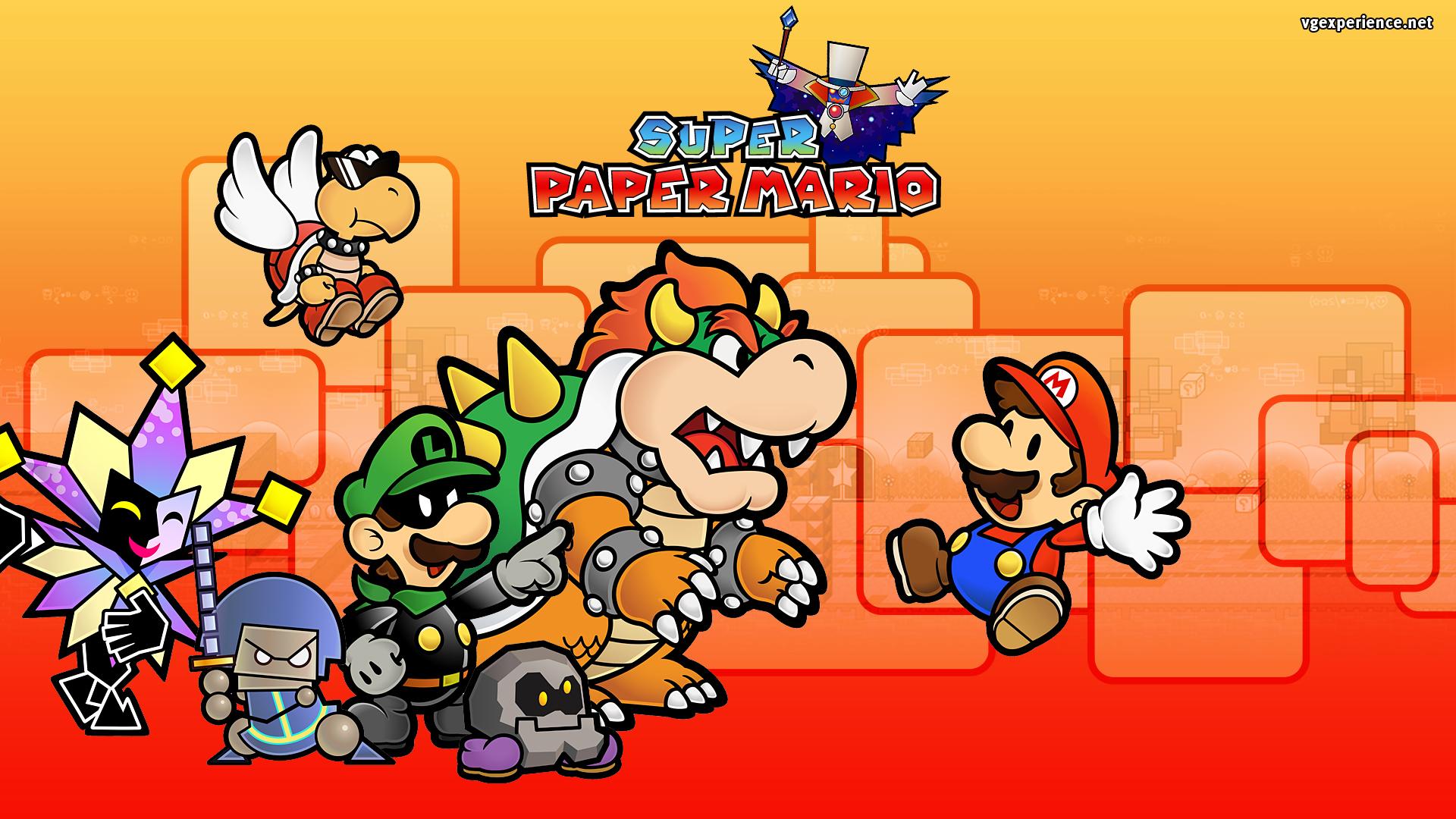 3d Wallpaper Maker Super Paper Mario Details Launchbox Games Database
