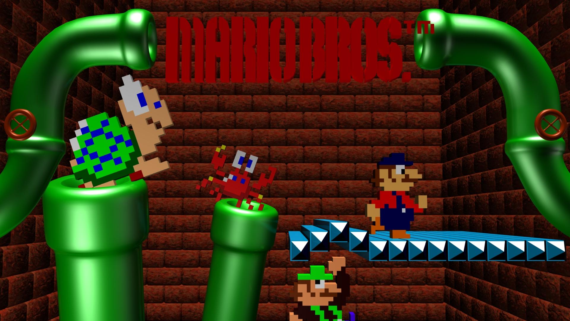 Wallpaper 3d Mario Bros Mario Bros Details Launchbox Games Database