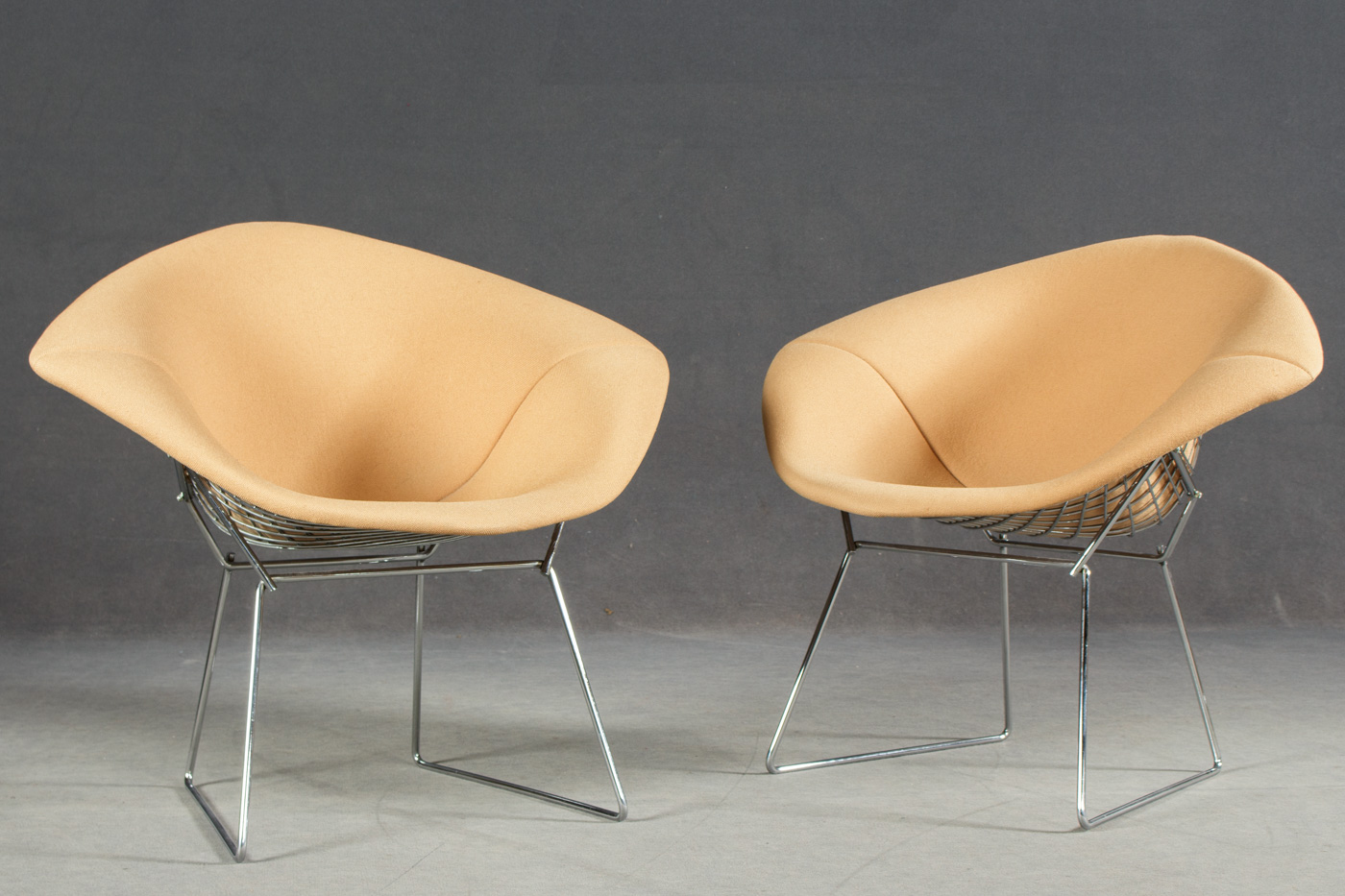 Diamond Sessel Auktionstipset Harry Bertoia Für Knoll Int Zwei Lounge Sessel