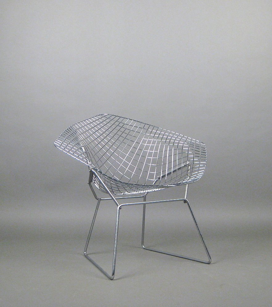 Knoll International Sessel Auktionstipset Harry Bertoia Lounge Sessel Modell 421 Diamond