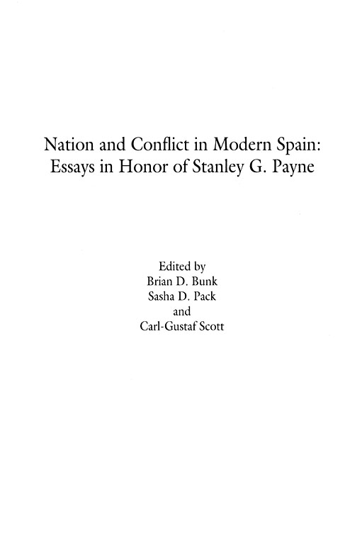 title pages for essays history nation and conflict in modern spain