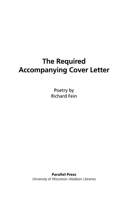 The Literature Collection The required accompanying cover letter