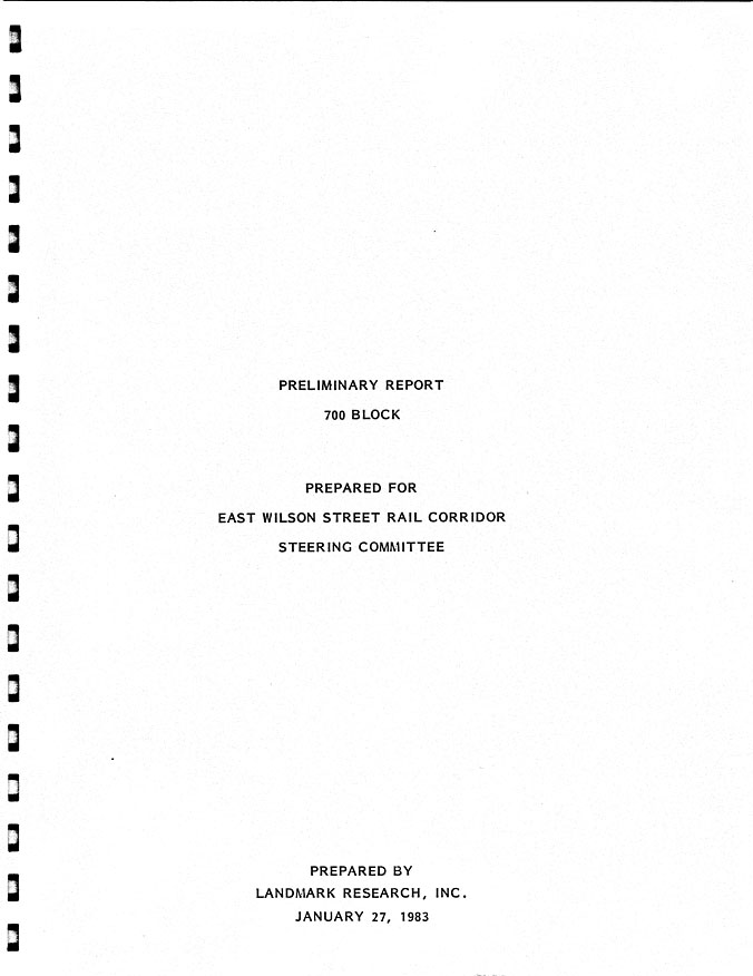 The Real Estate Collection Preliminary report, 700 block Title