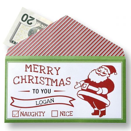 Santa Money Envelopes Lillian Vernon