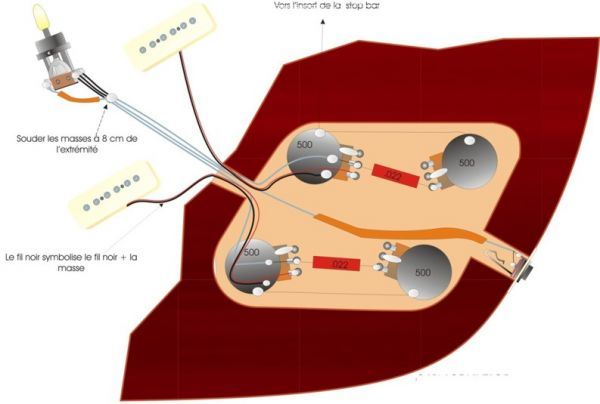 Les Paul Modern Wiring Furthermore Gibson Les Paul Wiring Diagram