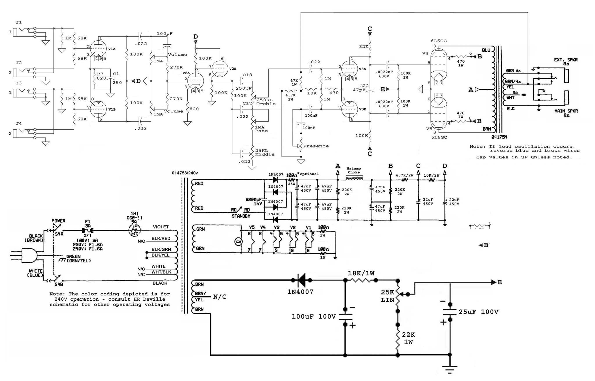 fender hot rod deville schematic wiring