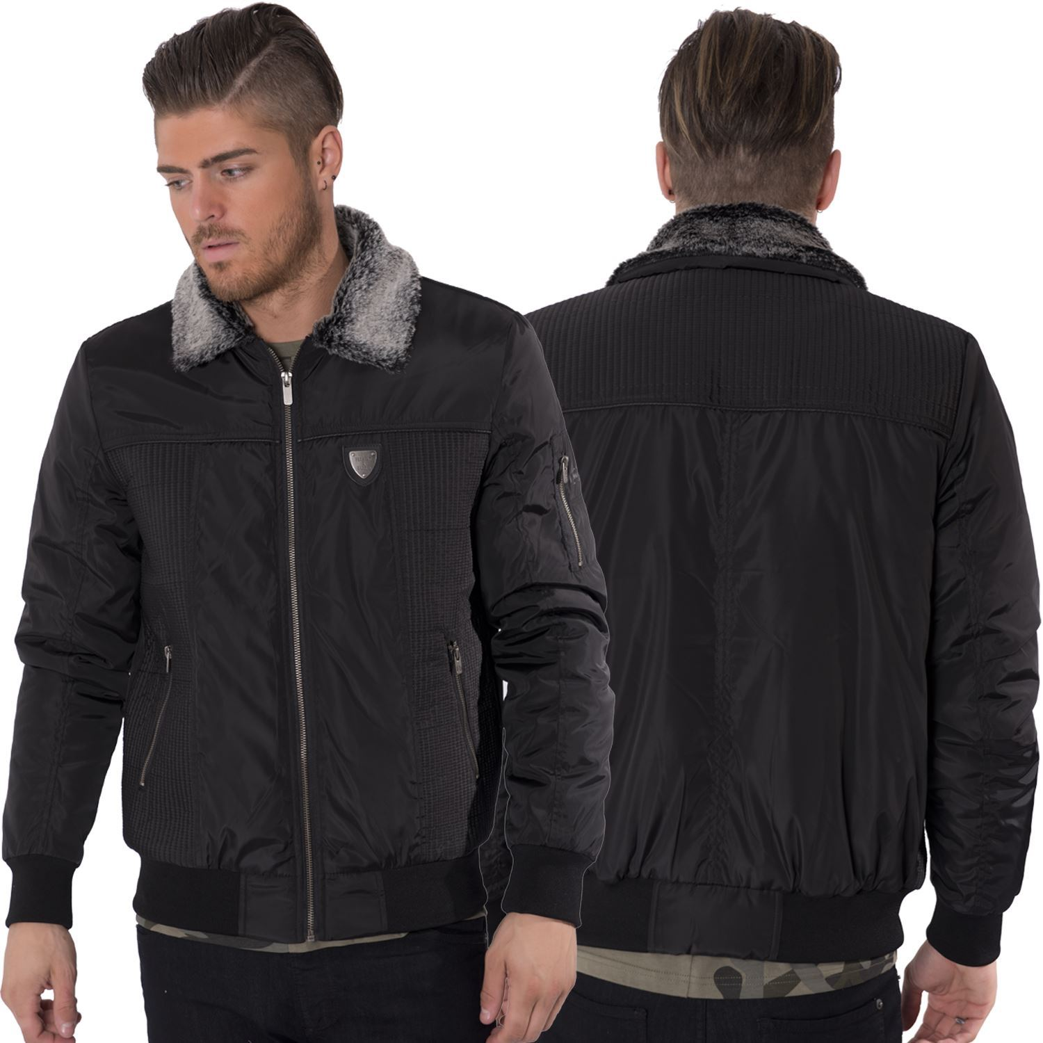 Men s jackets with fur collar
