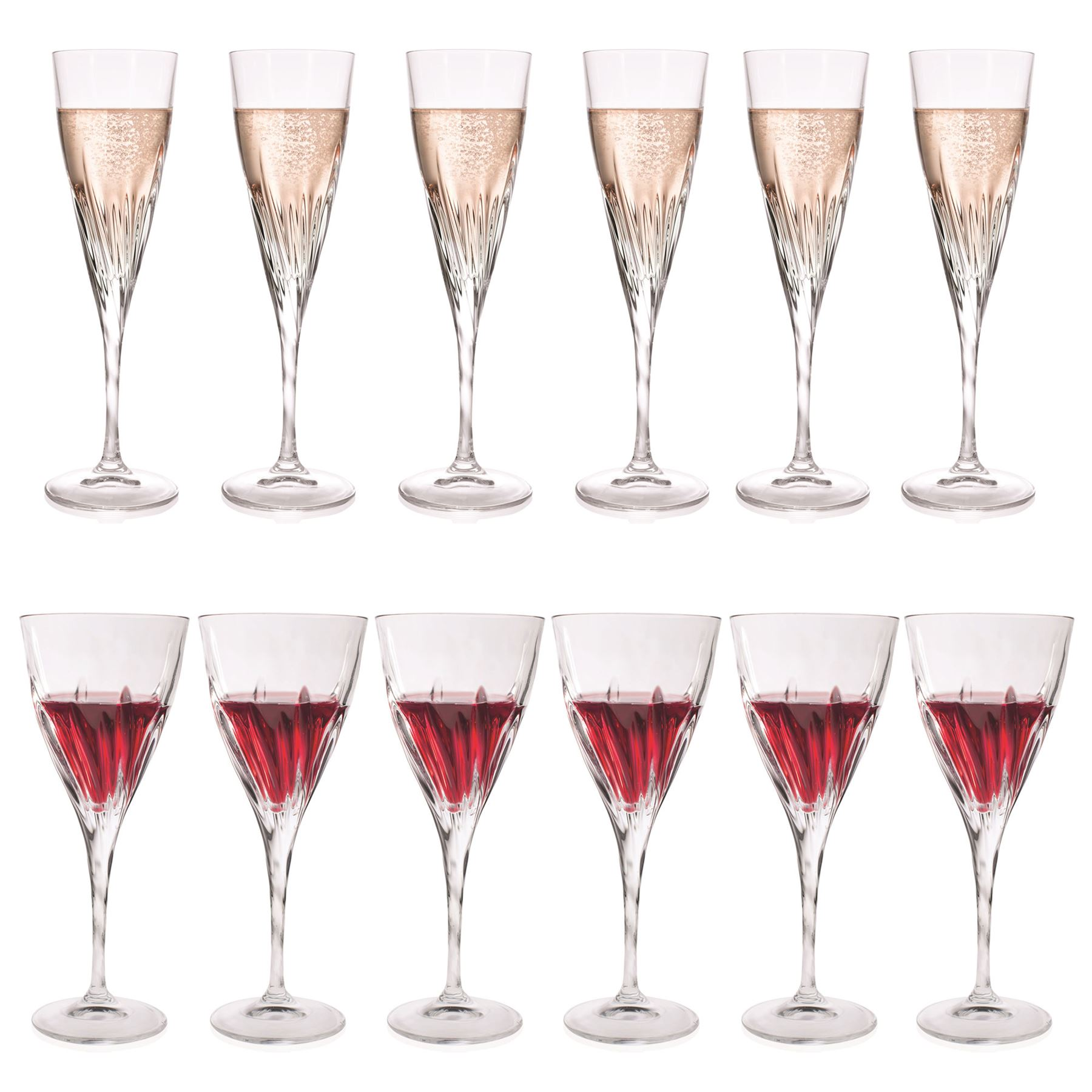 Large Crystal Wine Glasses Rcr Crystal Fluente Large Wine Glasses 290ml And Champagne
