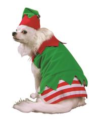 Christmas Elf Dog Pet Costume | eBay