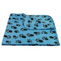 Pet Blanket Dogs & Puppy Cat Paw Print Soft Warm Fleece ...
