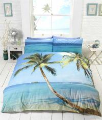 Beach Scene Tropical Island Palm Tree Bedding Duvet Cover ...