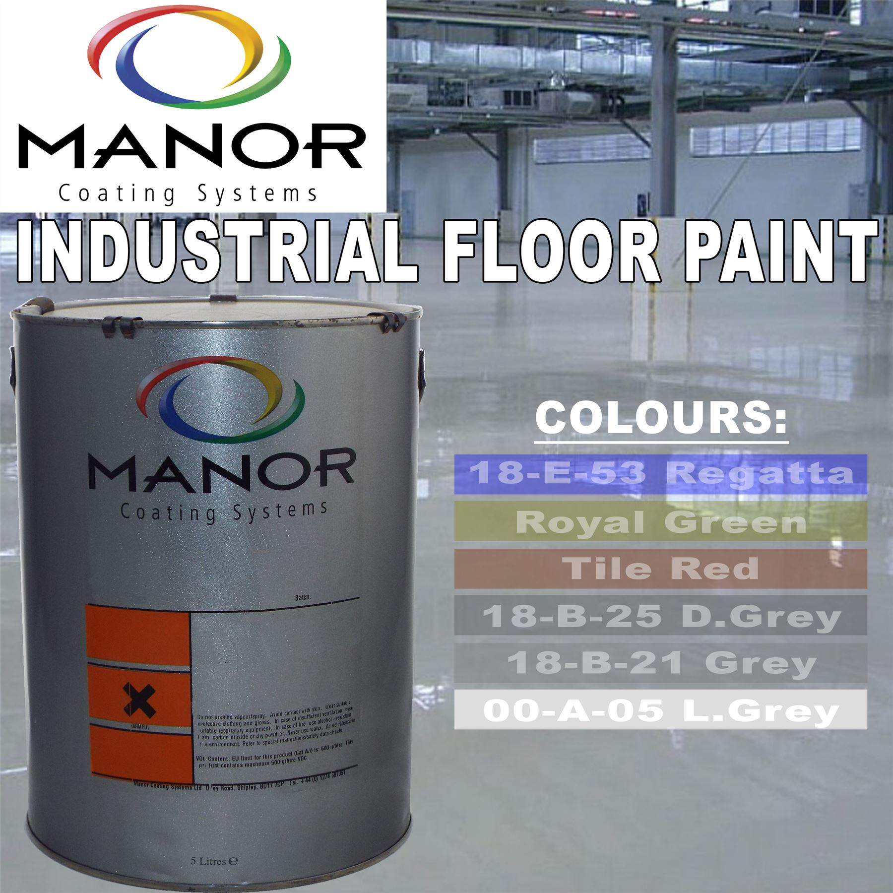 Industrial Grey Paint Light Grey 5 Litre Linotex Industrial Hard Wearing
