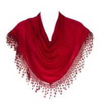 Plain Women Lady Chandelier Lace Fringed Shawl Stole Wrap ...