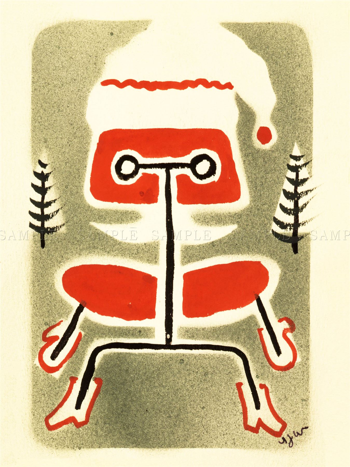 Eames Chair Drawing Paintings Drawing Eames Chair Modern Furniture Christmas