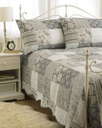 Bedspread With 2 Pillow Shams Bedding Duvet Throw Quilted ...