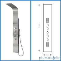 Thermostatic Shower Panel Column Tower With Body Jets Twin
