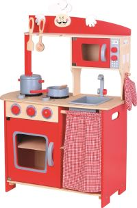 LELIN WOODEN WOOD CHILDRENS PRETEND PLAY KITCHEN COOKING ...