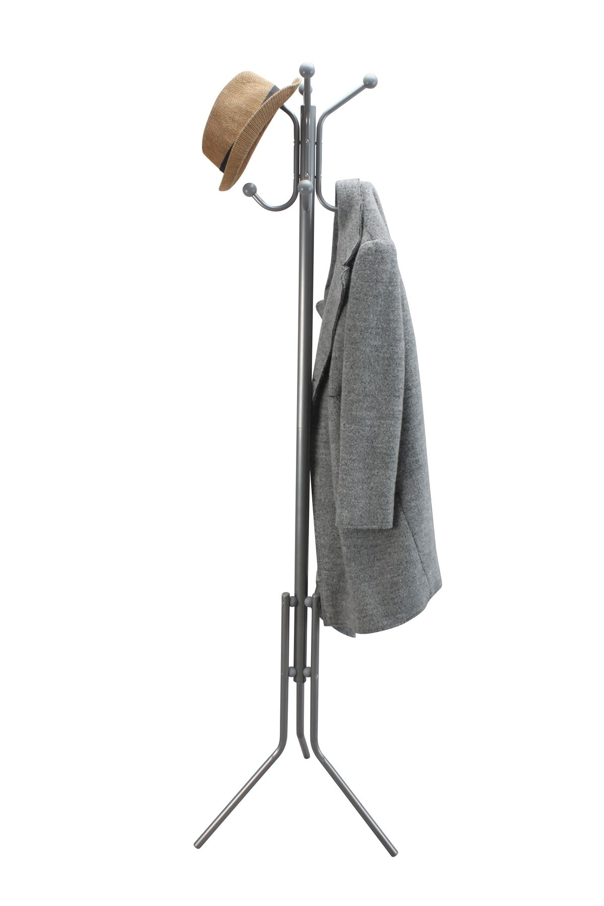 Hook Clothing 8 Hook Coat Stand Clothes Rack Jacket Hat Hanger Organiser