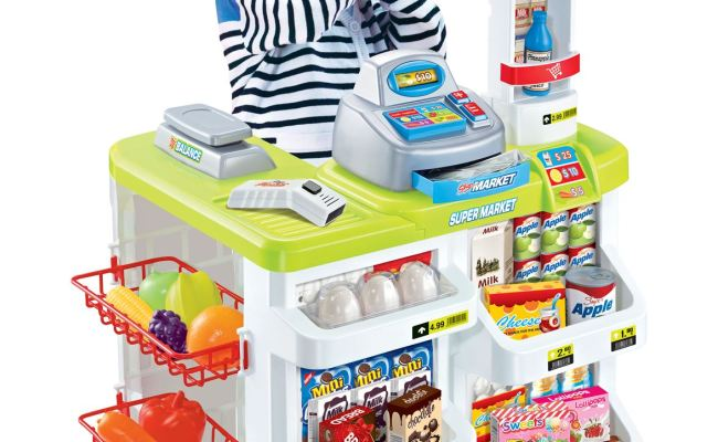 Vinsani Kids Pretend Play Supermarket Shop Toys Set