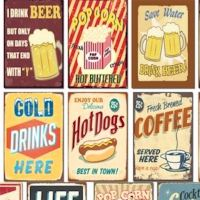RETRO WALL ART VTG PICTURE PAINTING ADVERTISING SIGN ...