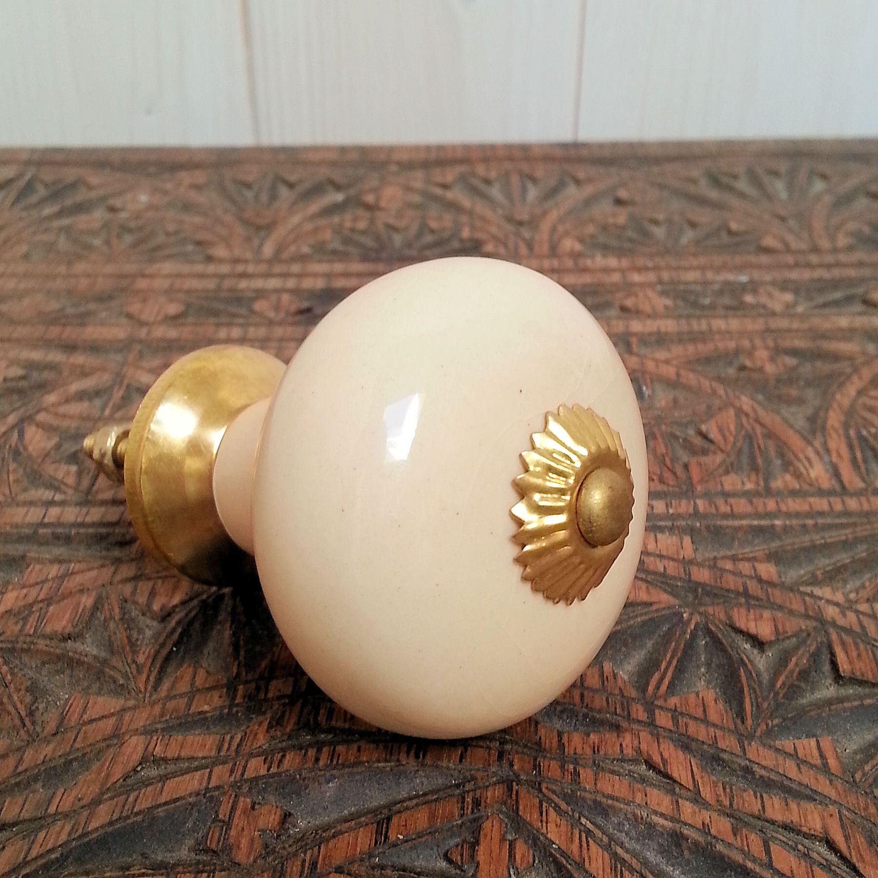 Kitchen Cabinet Knobs Ceramic Cream Ceramic Door Knobs Furniture Vtg Country Kitchen