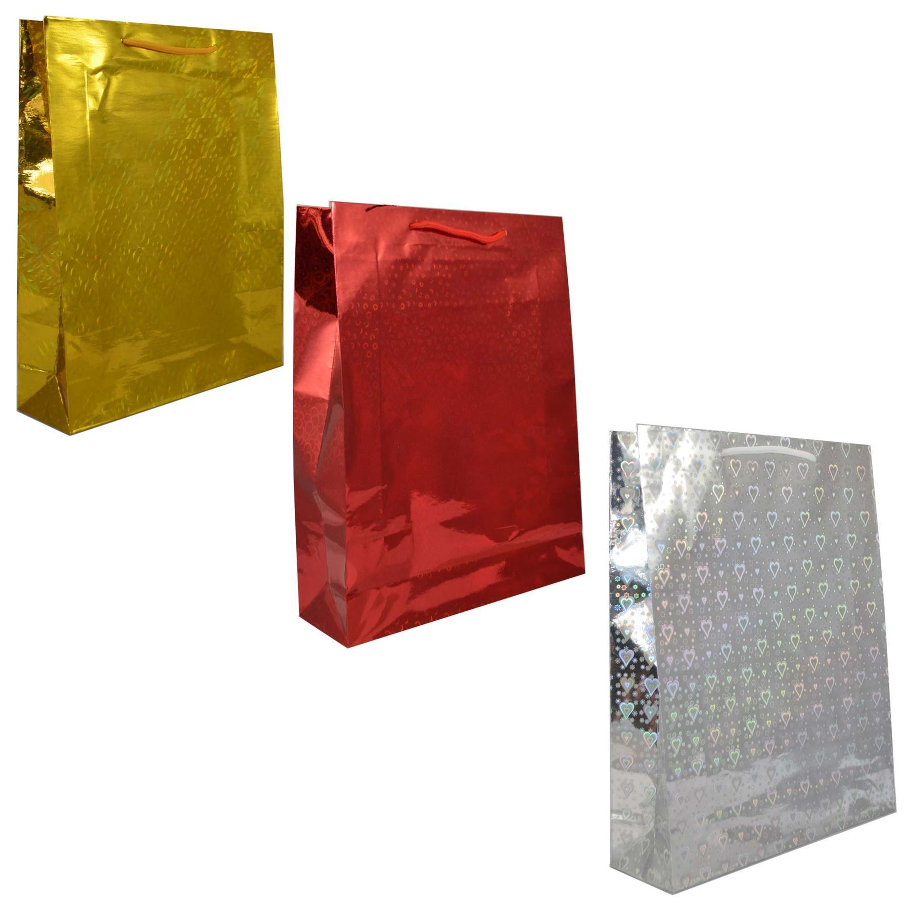 Paper Gift Bags Wholesale 26x33cm Large Assorted Holographic Decorative Paper Gift