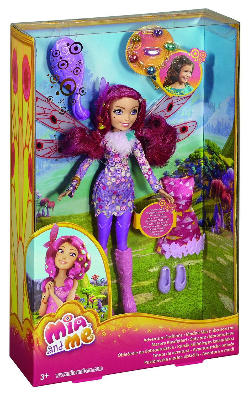 Mia And Me Adventure Fashions Doll With Ring Hair Gems