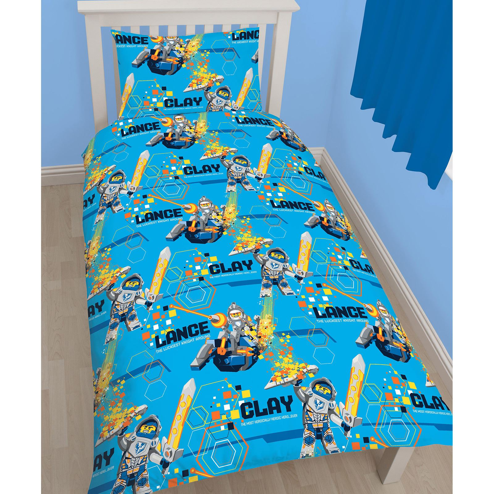 Knight Rider Bettwäsche Lego Nexo Knights Power Single Duvet Cover Set Rotary