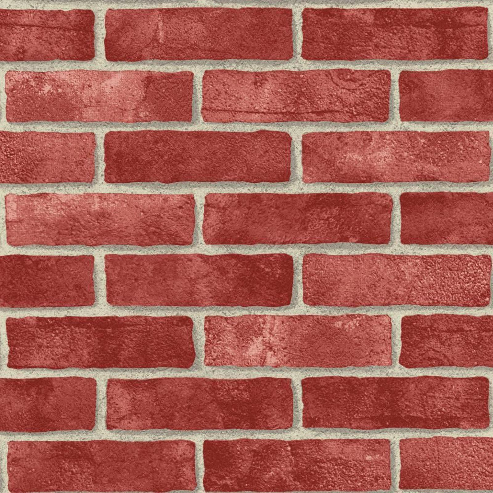 3d Faux Stone Wallpaper Red Brick Effect Wallpaper Suitable For Any Room Feature