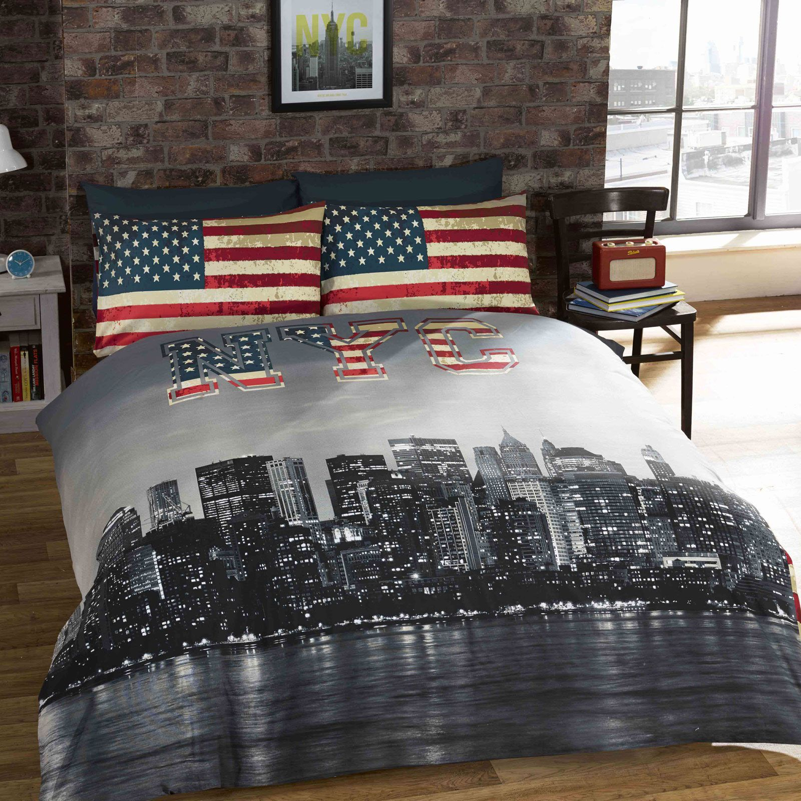 Couette 90x200 New York City Bedding Single Duvet Cover Sets Usa Skyline