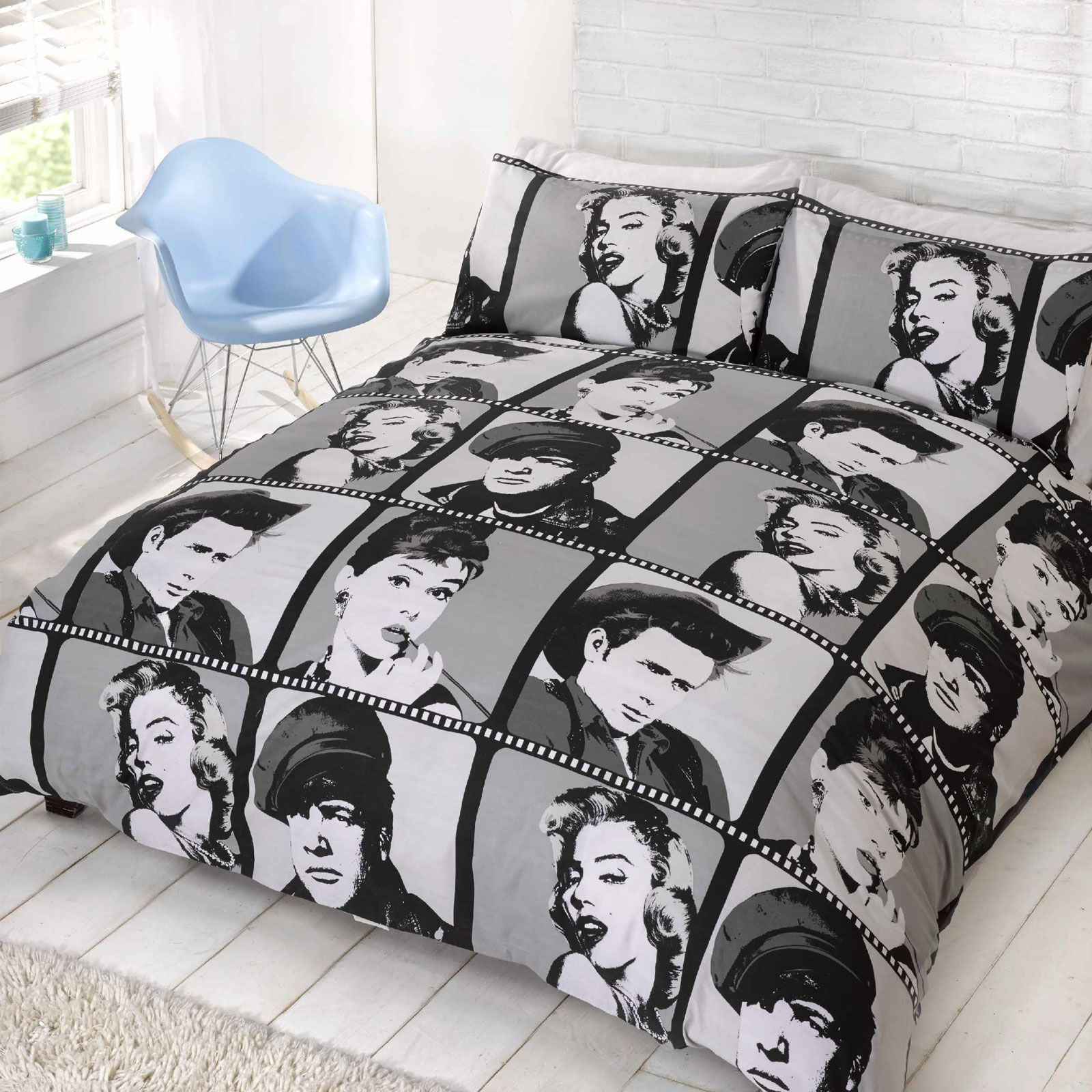 Marilyn Monroe Bettwäsche Hollywood Icons King Size Duvet Cover Set Marilyn Monroe