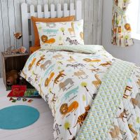 MY SAFARI ANIMALS JUNIOR TODDLER BED DUVET COVER SET NEW ...