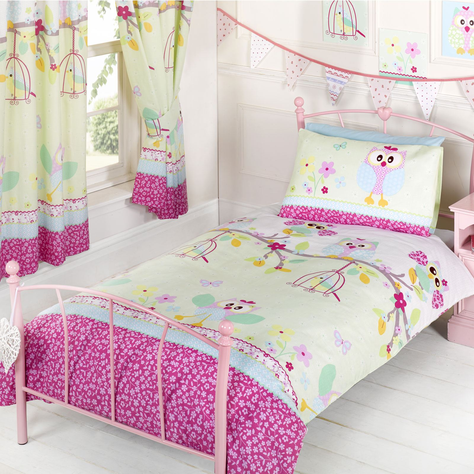 Girls Bedding Owls 39twit Twoo 39 Single Duvet Cover Set New Girls Bedding