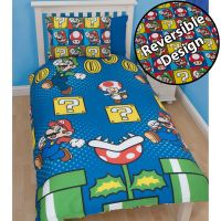 OFFICIAL NINTENDO SUPER MARIO BROTHERS BEDDING DUVET COVER