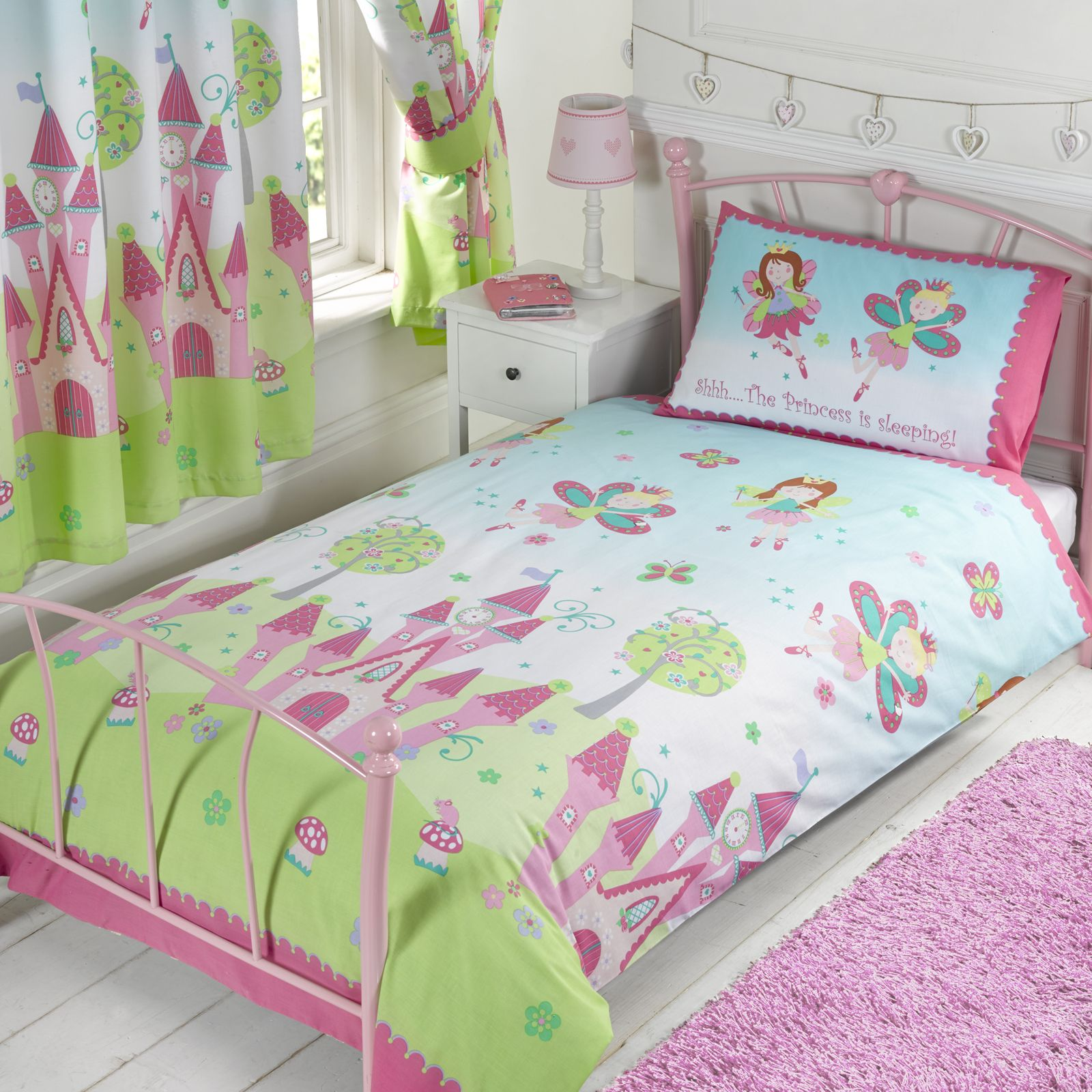 Girls Bedding Fairy Princess 39sleeping 39 Single Duvet Cover Set New Girls