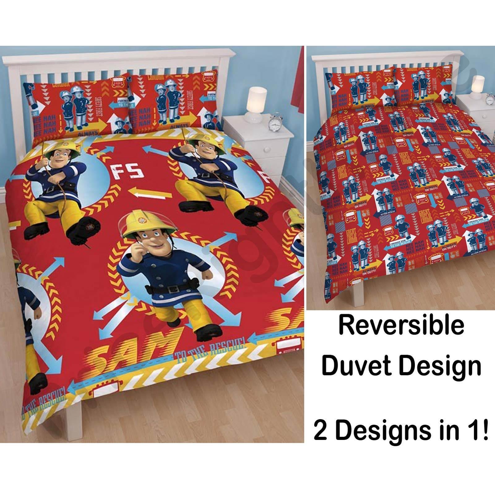 Fireman Sam 39alarm39 Double Duvet Cover Official New
